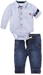 OFFCORSS Jeans Outfits Button Long Sleeve Bodysuit Baby Boy Conjunto Bebes Niño