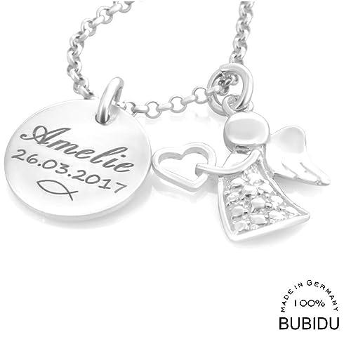Taufkette Mädchen Mit Gravur Namenskette Taufe Silber