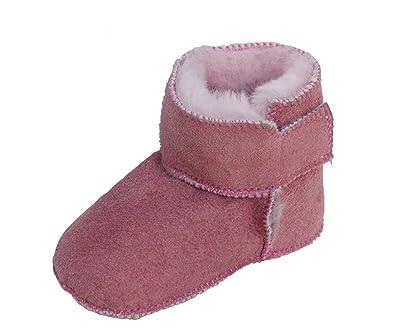 finest selection 99fc9 ab54a Heitmann Warme Baby Lammfell Boots mit Klettverschluss Rosa, Gerbung Ohne  schädliche Stoffe, Gr. 18-19