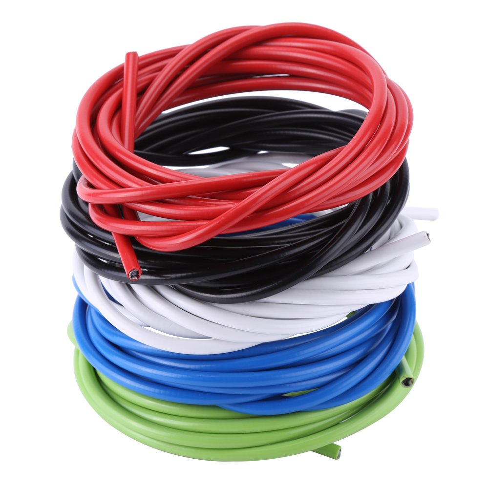 3 Meters Bike Shift Cable Tube,5mm Bicycle Shifting Cable Wires Bicycle Derailleur Cable Line Bikes Replacement Accessory Kit for Mountain Road Bike
