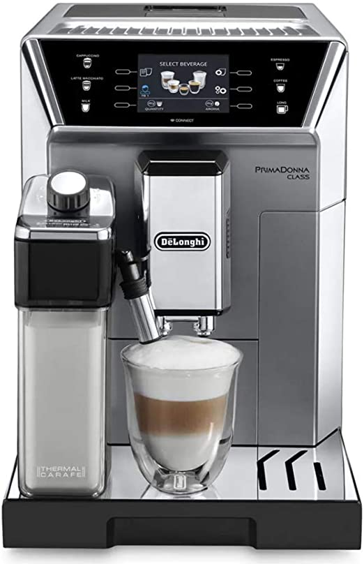 DeLonghi ECAM 550.75.MS - Cafetera (Independiente, Máquina de café en cápsulas, 2 L, Molinillo integrado, 1450 W, Acero inoxidable): Amazon.es: Hogar