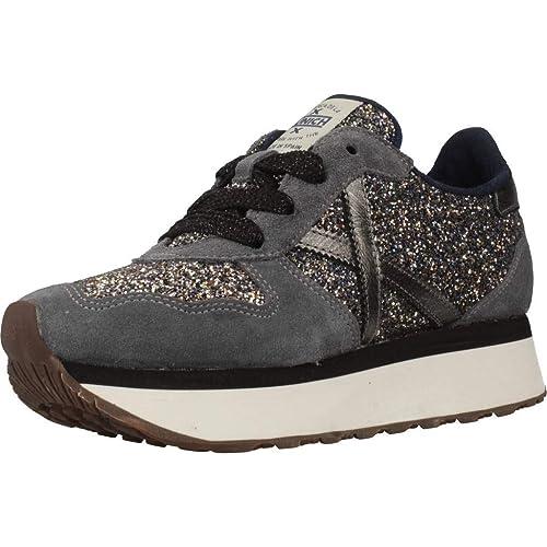 b840be2ac7 Munich Sneaker MOD. Super Sky 01 Suede Grigio/Glitter Donna D19MU03 ...