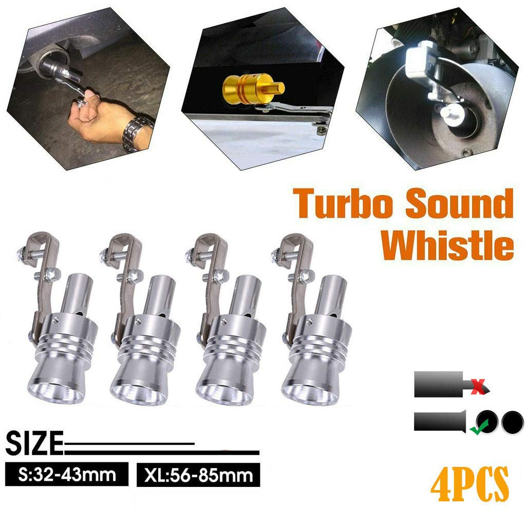 XL, Silver Sound Maker,TADAMI Car Auto Exhaust Pipe Straight Tailpipe Accessory Loud Whistle Sound Maker Professional Parts /& Accessories