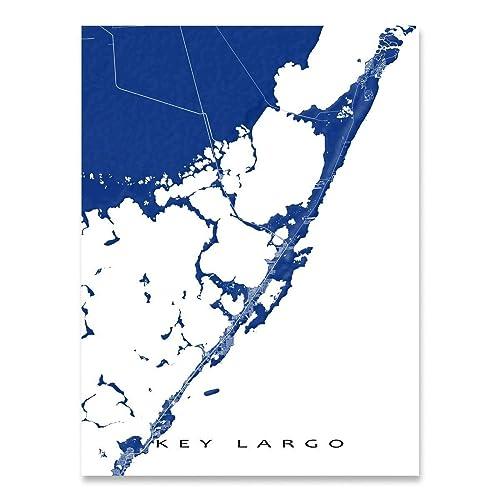 Amazon.com: Key Largo Map Print, Art Wall Decor, Florida Keys ... on hawks key map, lakewood park map, ramrod key map, sunset key map, w palm beach map, miami map, chokoloskee map, hutchinson beach map, rockland key map, largo sound map, bradenton area map, anna maria island map, marco island map, rodriguez key map, florida map, daytona beach map, big pine key map, st. augustine beach map, no name key map, siesta key sarasota map,
