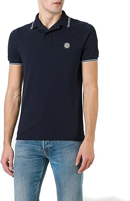 Stone Island Polo para Hombre Slim Fit 6515508A3: Amazon.es ...