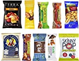 Healthy Snacks Care Package Sampler Gift Box - 10 Pack Variety - Nature Valley Granola Bars, SkinnyPop, Fig Bar, Planters, Terra Chips, Kashi, Sahale, Aged Cheddar and more
