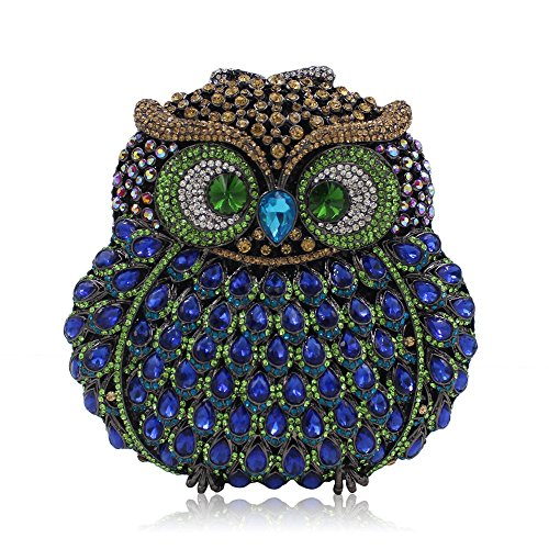 Black Lovely Bag Clutch Bag Bag Blue Shoulder Hand Women Owl Evening Rabbit Color Clutch Animal Party Modeling ZqFfA1Zw