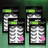 Salon Perfect 610 Handmade Fake Eyelashes Multipack (5 pairs), 4 pack