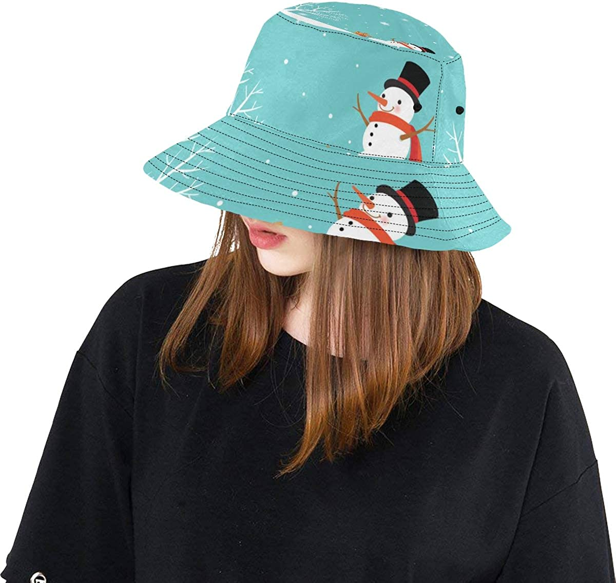 Cute Big Polar Bear Hand Drawn New Summer Unisex Cotton Fashion Fishing Sun Bucket Hats for Kid Teens Women and Men with Customize Top Packable Fisherman Cap for Outdoor Travel