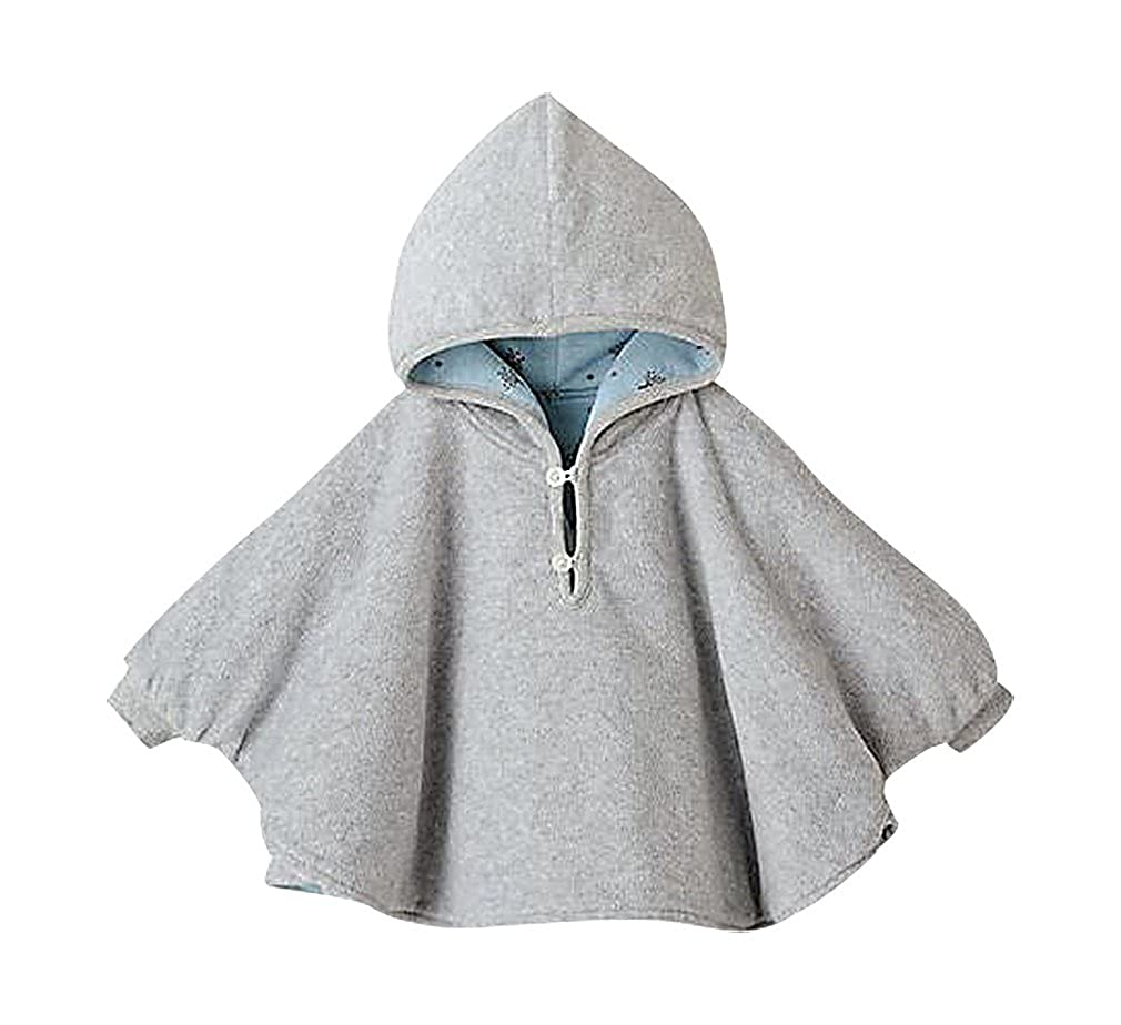 Sweety Girls Solid Color Or Printed Double Sided Hooded Cashmere Cotton Cloak