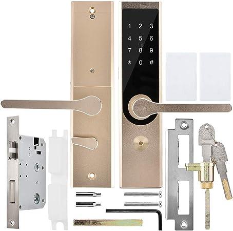 Pangding Cerradura de Puerta Inteligente, antirrobo Inteligente A4 WiFi BT Cifrado Teclado Remoto...