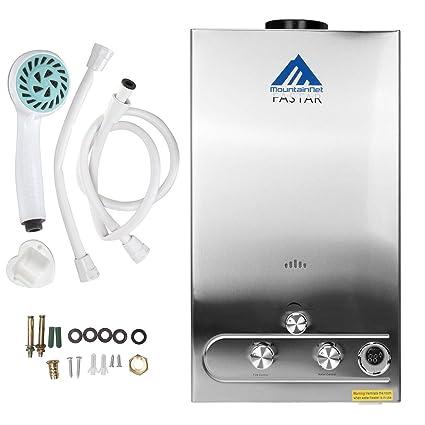 Ridgeyard Calefactor del Agua de la Ducha de Propano y Gas con Pantalla Digital de la