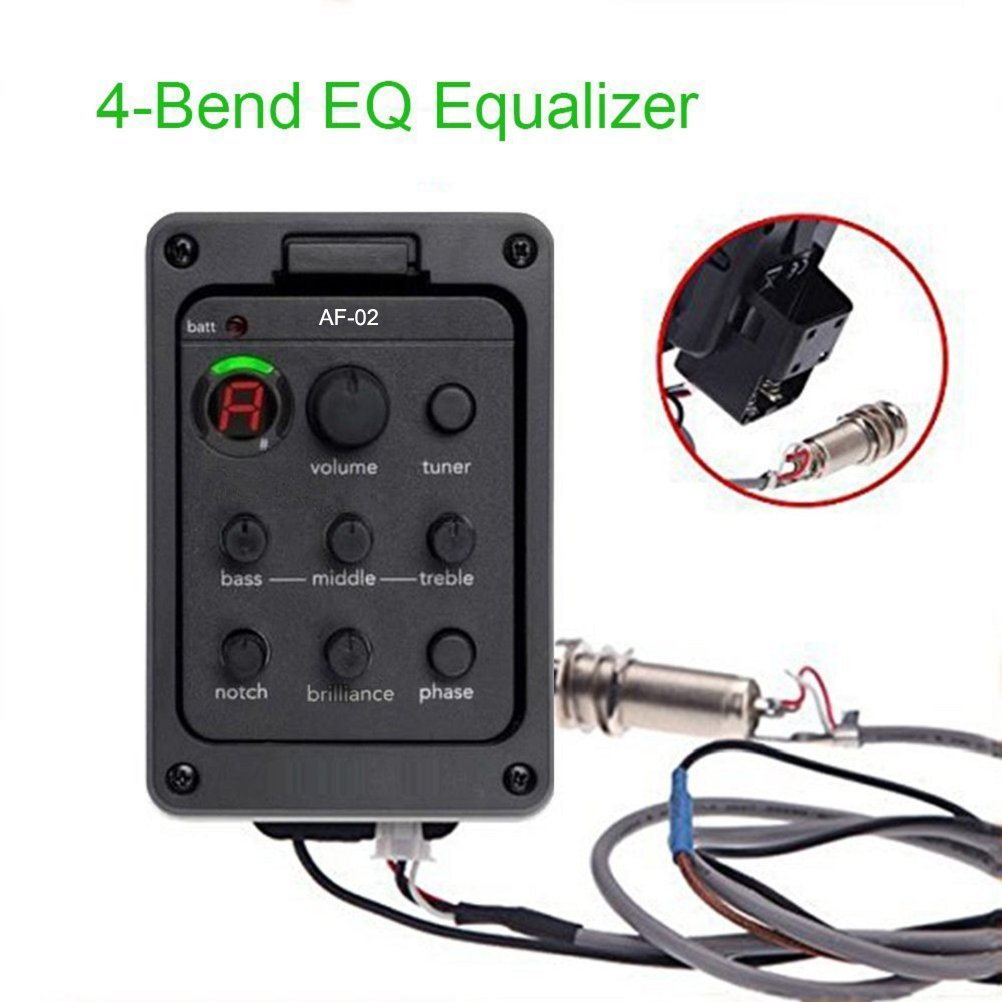 Acoustic Guitar Preamps 4 Band EQ Equalizer 201 Beat Board Piezo Pickup Tuner w/Volume Control Ship From USA