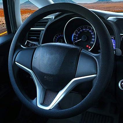 Car Van Steering Wheel Cover Black-Beige-Look Soft Better Grip Driving Aid