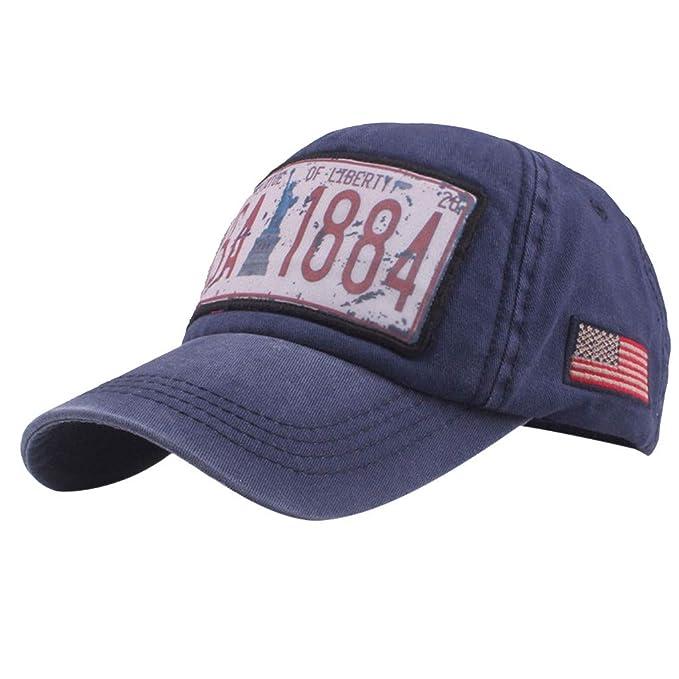 Topgrowth Cappello Cappello con Visiera Cowboy Uomo Unisex Baseball  Cappelli Sportivi Ricamo Classico Cappello Visiera Piatta d527f774a043