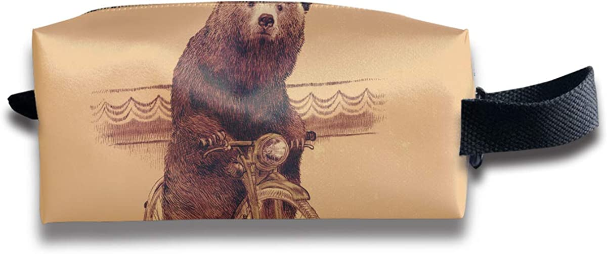 Novelty Colorful Cycling Bear Portable Evening Bags Clutch Pouch Purse Handbags Cell Phone Wrist Handbags For Womens
