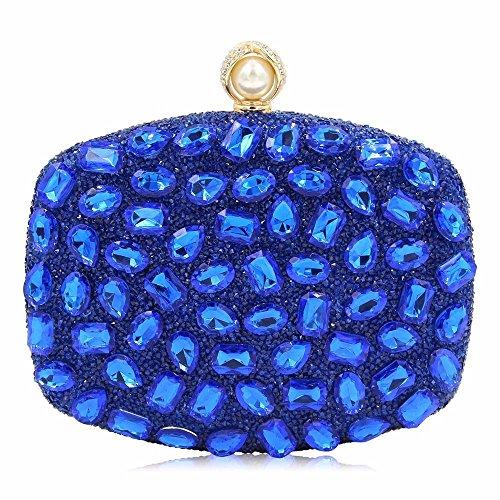 bolso bolsa moda parte Diamond bolsa embrague 2018 taladro Hot New de B bolsa cena Azul color qan0vBwS