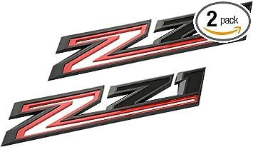 2pcs 2019-2021 Chevrolet Silverado Z71 Gloss Black Fender Emblem Badge Nameplate