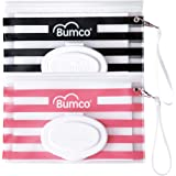 Bumco Diaper Bag Wet Wipes Dispenser, Reusable Refillable Pouch, Organizer for Travel, Carrying Clutch, Unique Baby Gift for