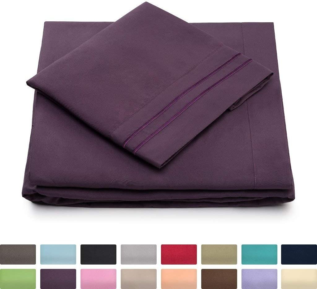 Twin XL Size Bed Sheets - Purple Twin Extra Long Bedding Set - Deep Pocket - Ultra Soft Luxury Hotel Sheets- Hypoallergenic - Cool & Breathable - Wrinkle, Stain, Fade Resistant - 3 Piece