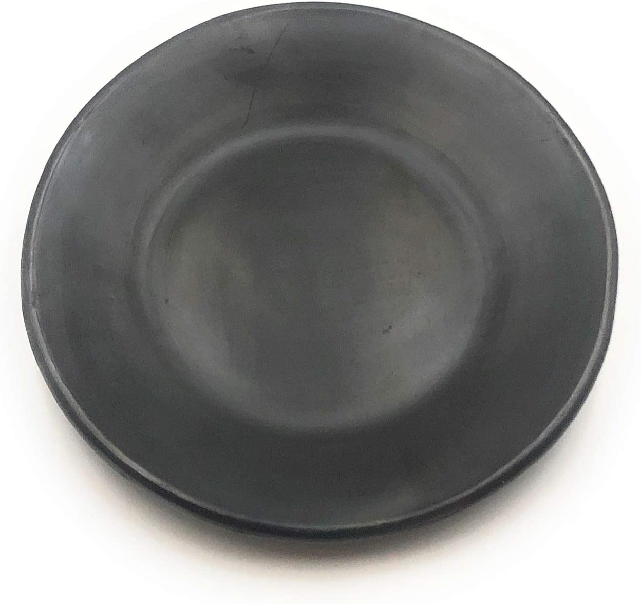 Dinner Serving Plate Black Clay 9.5