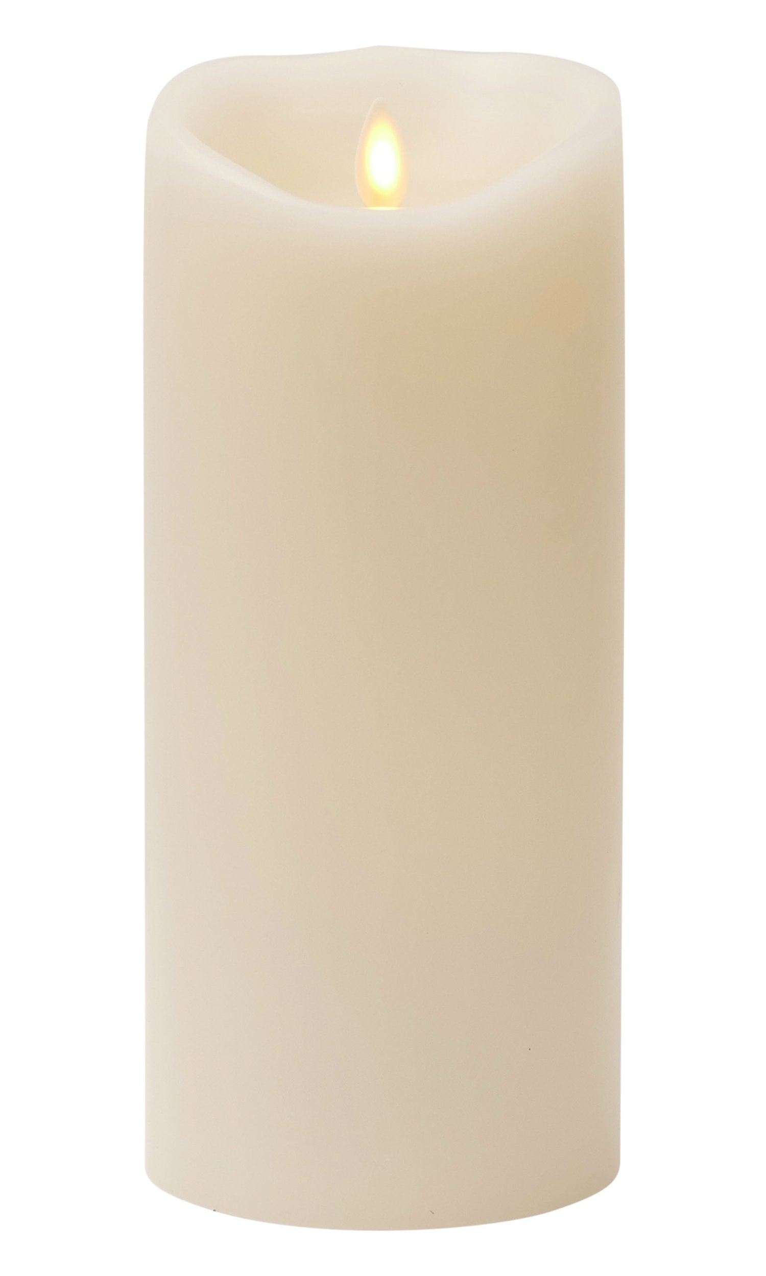 Liown Flameless Candle: Unscented Moving Flame Candle with Timer (9'' Ivory) by Liown