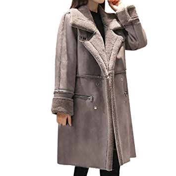 Womens Coats Winter Besde Womens Fashion Casual Warm Lightweight Outwear Lapel Faux Fur Fleece Lined Shearling