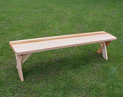 (Fifthroom Markets 5' Red Cedar Cross Legged Bench)