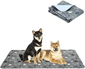 PAWCHIE Washable Pee Pads for Dogs - Non-Slip Reusable Dog Potty Training Mat, Super Absorbent Puppy Whelping Pad, Waterproof Dog Food Bowl Mats for Small Medium Large Dogs