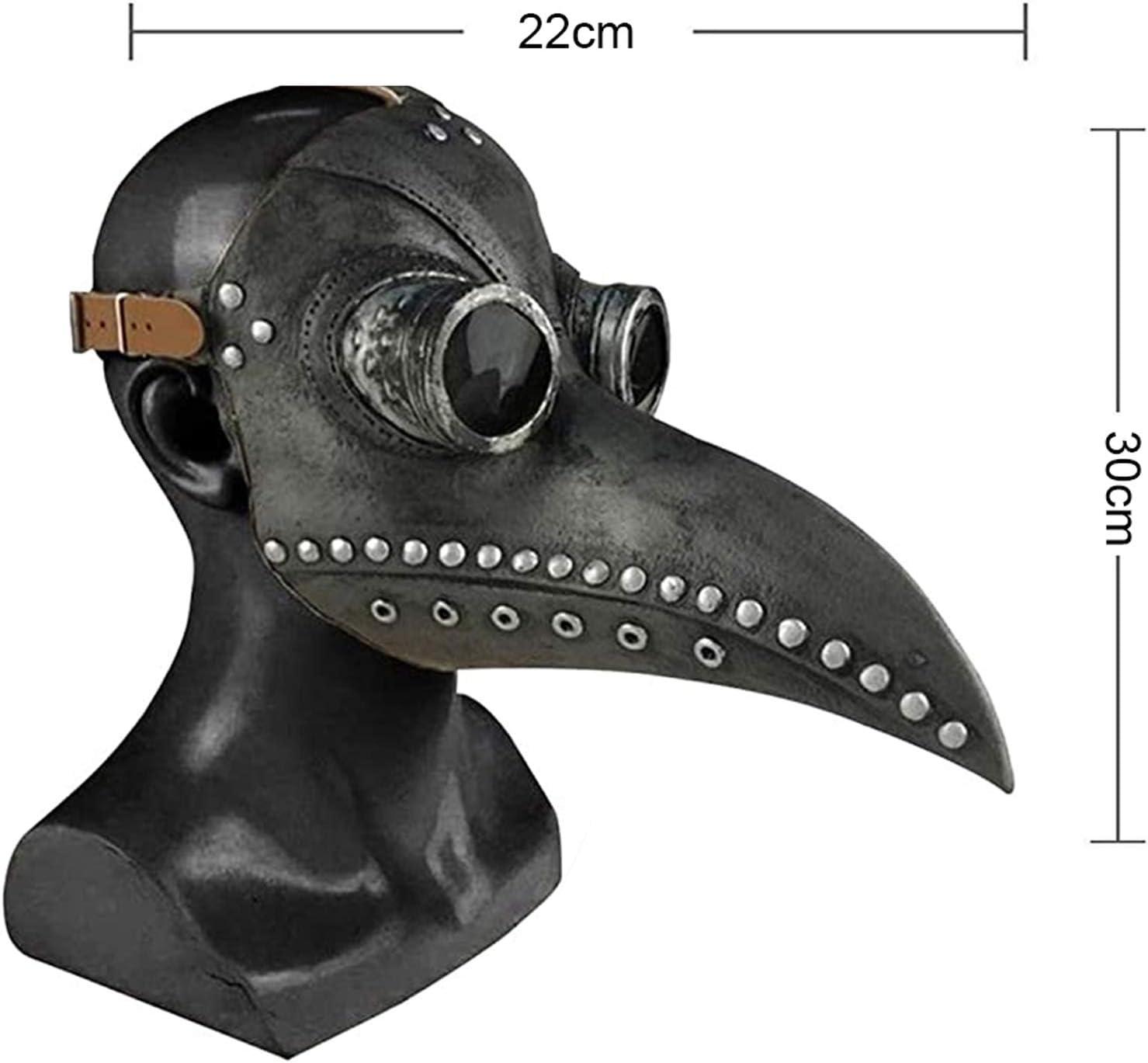 Masquerade Accessori Costume And Carnevale per Adulti ALINILA Maschera Becco for Halloween,Maschera del Medico della Peste Steampunk Maschera Naso Lungo Becco di Uccello