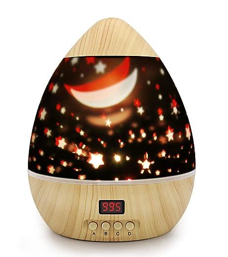 Proyector de luz de estrella de madera de grano Dsaatn ...