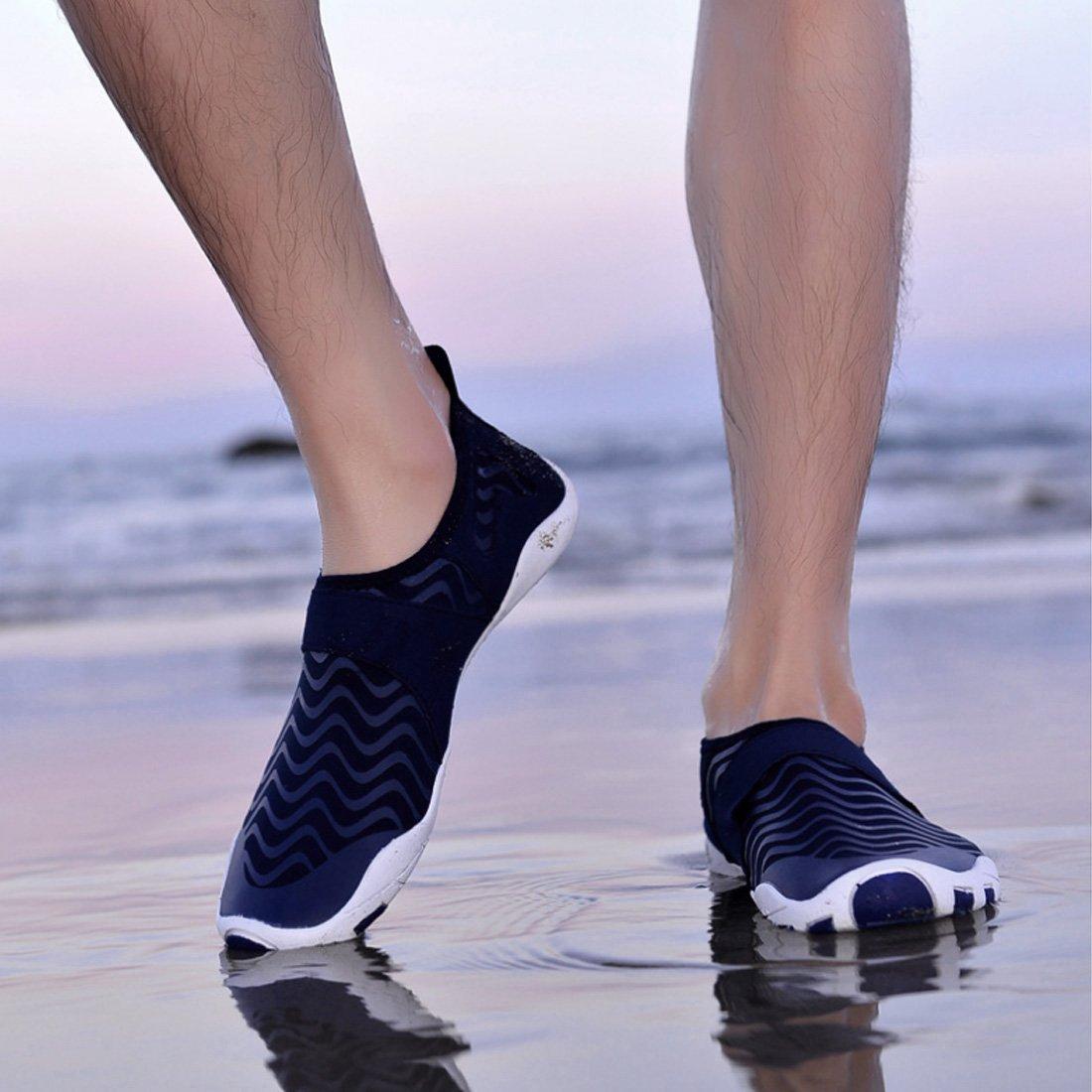 058e598fc92f ... Water Shoes Quick Dry Aqua Aqua Aqua Shoes Barefoot Shoes for Water  Sports Rubber Sole B07DMFS7HQ