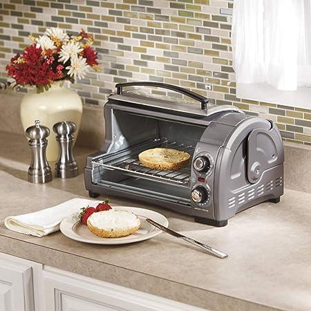 KAS Mini horno, calefacción por infrarrojos, bandeja de migas de ...
