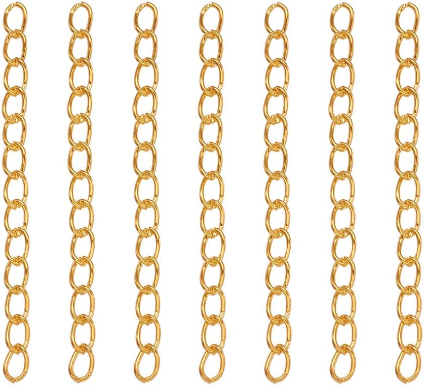 250Pcs Chain Extender for Jewelry Making,Bracelet Chain Extender Chain Extension Tails Stainless Steel Necklace Extension Chain for Necklaces Bracelet,Anklets,Jewelry Making Supplies