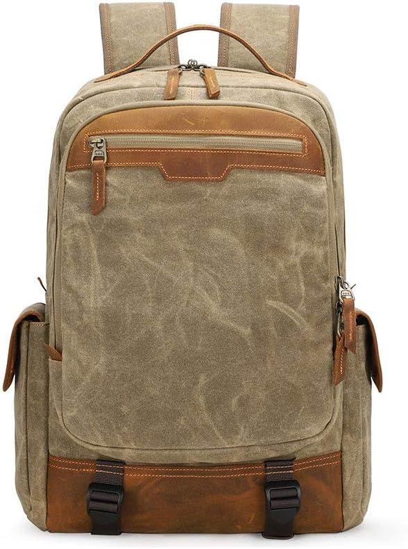 Camera Backpack Canvas SLR DSLR Camera Bag Backpack Large Capacity Waterproof Shockproof Backpack Fits 15.4 Laptop with Shoulder Photographer Bag Color : Khaki