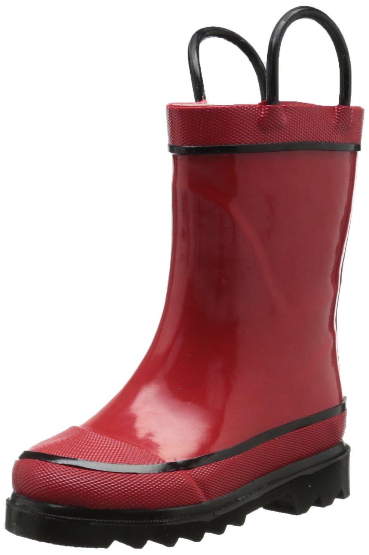 Western Chief Kids Unisex Solid Waterproof Rain Boot Firechief 2 Rain Boot-k