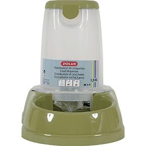 Distributeur de croquettes antidérapant vert 6,5 kg pour chien et chat/ZOLUX