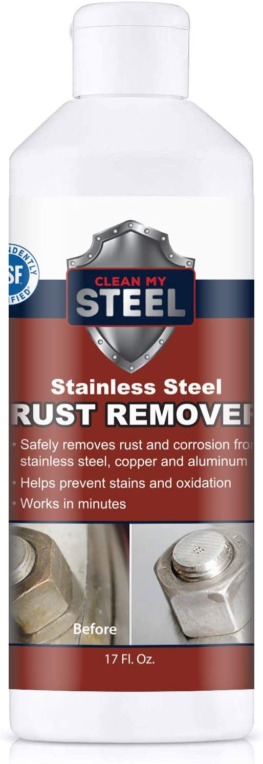 Clean My Steel Stainless Steel Rust Remover & Cleaner - Works in Minutes (17 oz)