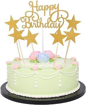 Amazon.com: lxzs-bh 7 pack Glitter letras Feliz cumpleaños ...