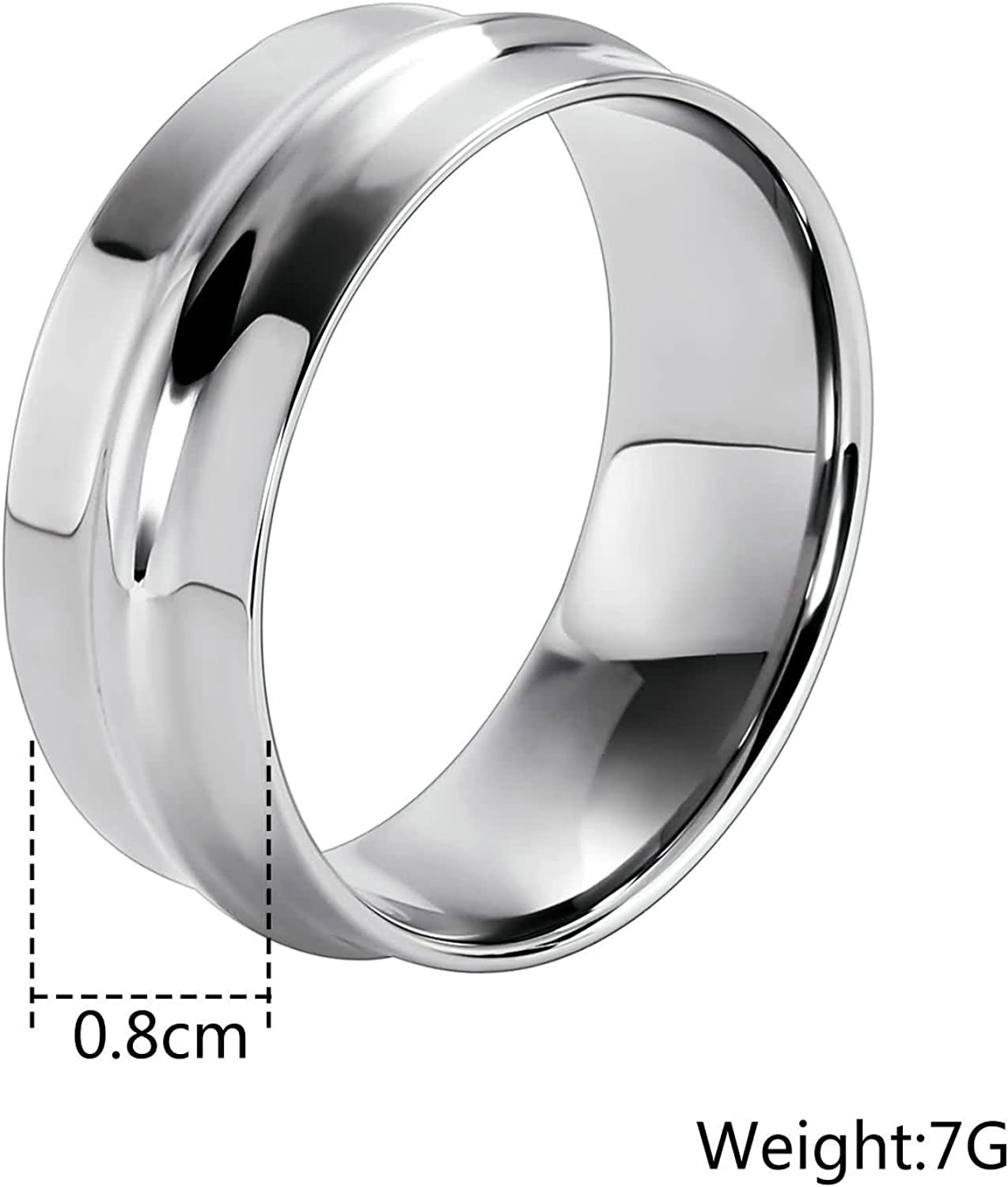Aooaz Stainless Steel Ring Men Boys Brushed Wedding Ring Silver Holiday Graduation Gift
