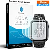 MaxShield - Apple Watch Full Coverage Screen Protector [Wet Applied] (40mm Series 4 Compatible) Full Coverage [3 Pack] Screen Protector for Apple Watch 40mm - HD Clear