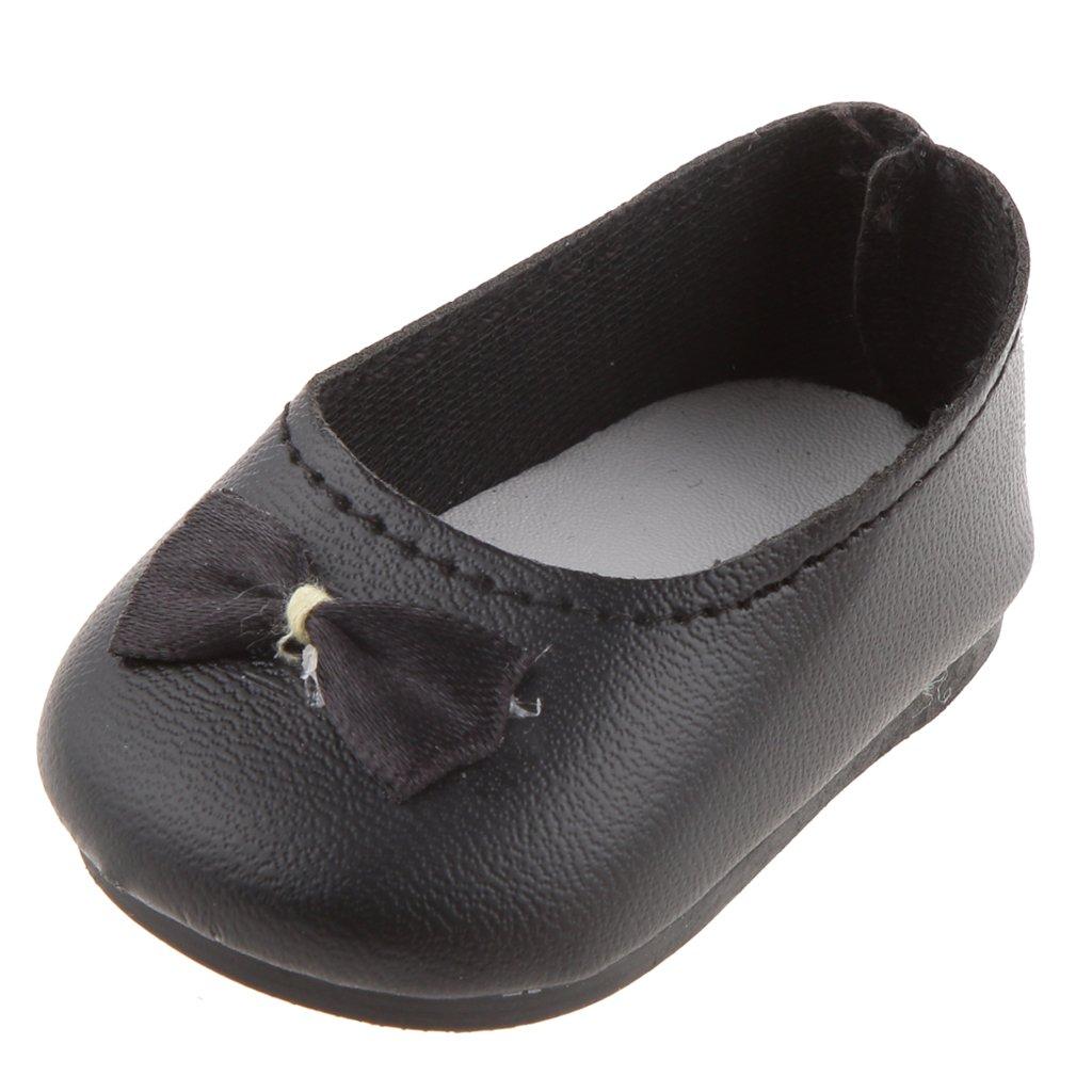 1 Par Zapatos Negros para Niña Muñecas de American Girl Genérico