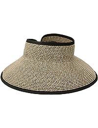 San Diego Hat Company Womens Ultrabraid Visor with Ribbon Binding, and Sweatband