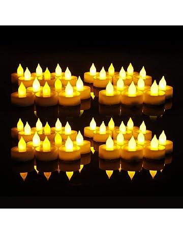28dedc8d7a4 EverBrite 48PC Vela LED Sin Llama Vela Electrónica Lámpara de mesa Luz de  Té con Pilas