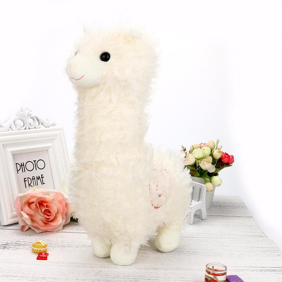 inverlee 35 cm Adorable KawaiiアルパカラマArpakasso Soft Plush Toy Doll Cute Stuffed Toy 35cm マルチカラー IN 35cm ホワイト B07BM9XZH9