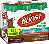 BOOST High Protein Nutritional Energy Drinks, Chocolate 8 oz, 6 ea (Pack of 7)