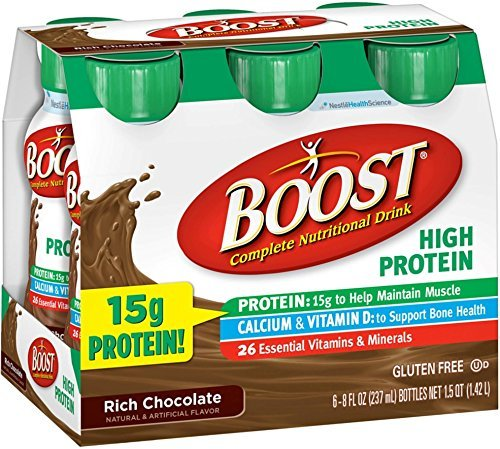 BOOST High Protein Nutritional Energy Drinks, Chocolate 8 oz, 6 ea (Pack of 7) by Boost