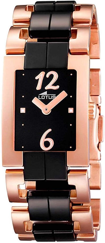 Lotus 15596/2 - Reloj analógico de mujer de cuarzo con correa de cerámica multicolor - sumergible a 30 metros