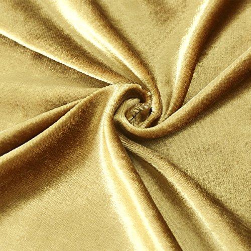 GIGIZAZA Luxury Shinny Velvet Silver Grey Decorative Throw Pillow Cushion Cover (18x18inch(45x45cm), Gold)