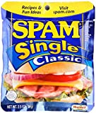 SPAM Classic - Ham - Shelf Stable Protein - Single Serve - 2.5 Ounce (Pack of 24)